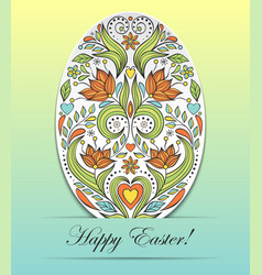 Floral easter egg on vector