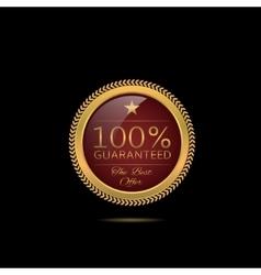 Golden Guarantee label vector image vector image