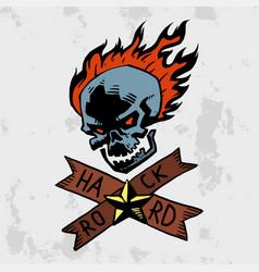 heavy rock music badge background vintage vector image