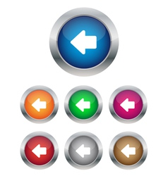 Left arrow buttons vector image vector image