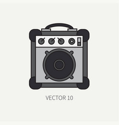 line flat color icon musical equipment - vector image vector image