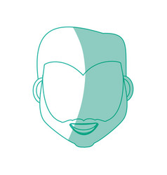 male faceless head vector image vector image