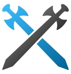 Medieval Swords Gradient Icon vector image