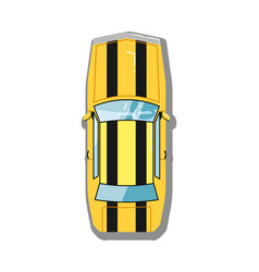 muscle car top view icon vector image vector image
