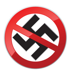 No nazi icon vector