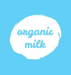 organic milk splash label vector image