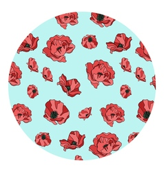 pattern of red poppies vector image vector image
