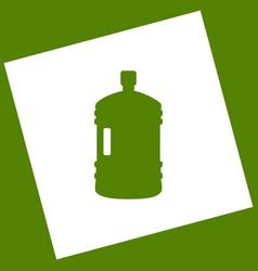 Plastic bottle silhouette sign white icon vector