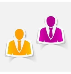 realistic design element office people vector image