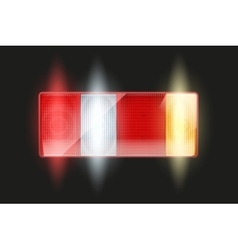 Rectangular car taillight vector