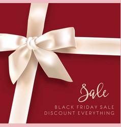 Sale discount fashion promo white bow vector