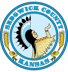 Sedgwick county seal vector