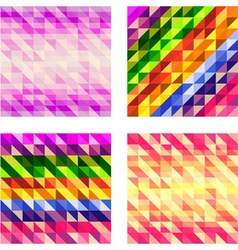 Set of colorful geometric textures vector
