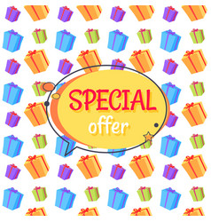 Special offer sale advertisement seamless pattern vector