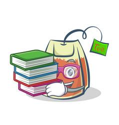Student tea bag character cartoon art vector