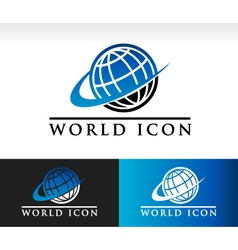 Swoosh World Logo Icon vector image vector image
