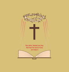 the holy bible vector image vector image