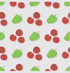 tomatoes seamless pattern background flat color vector image