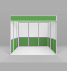 white green trade booth standard stand vector image vector image