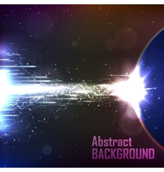 Cosmic background energy flow vector image