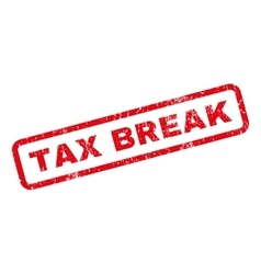 Tax break rubber stamp vector