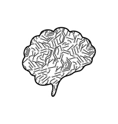 Human brain mind vector