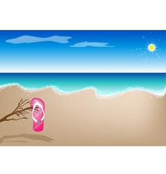 A Sandal on The Beach vector image