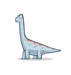 cartoon funny brachiosaurus vector image