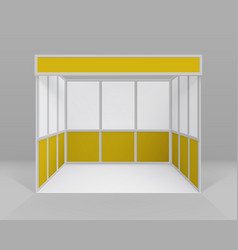 indoor trade exhibition booth for presentation vector image