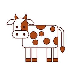 Cow farm isolated icon vector