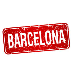 Barcelona red stamp isolated on white background vector