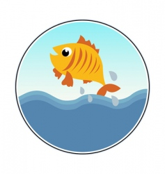 funny goldfish vector image