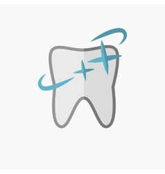 Dental flat icon vector