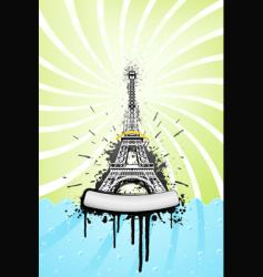 Eiffel tower grunge vector