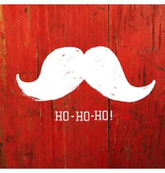 Santa moustache on red concept vector