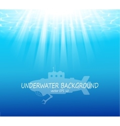 Blurred underwater background with sunbeams vector