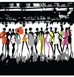 fashion show crowd vector image