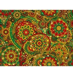 Flower paisley seamless pattern element vector