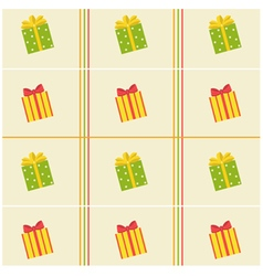 pattern of colorful of gift boxes vector image