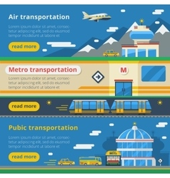Passenger transportation horizontal banners vector