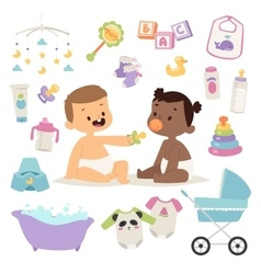 Baby child set vector image