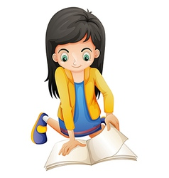 A young lady reading vector image vector image