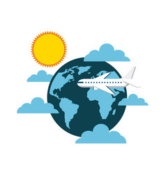 airplane vehicle icon vector image vector image