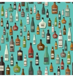 Alcoholic beverages seamless pattern vector