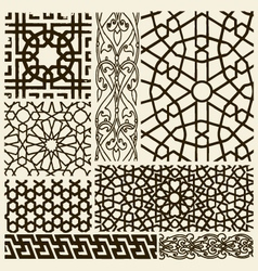 Arabesque design set vector