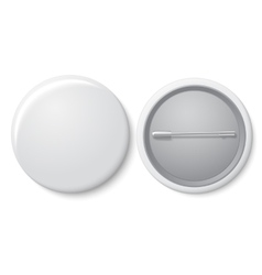 Blank white badge with place for your text vector image vector image