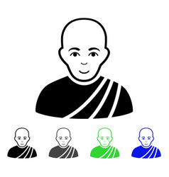 buddhist monk flat icon vector image vector image