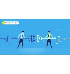Businessmen connect connectors vector image vector image