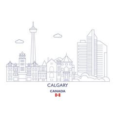 calgary city skyline vector image vector image