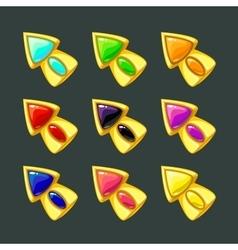 Cartoon golden arrows vector